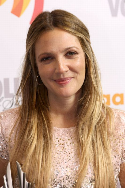 Drew Barrymore hair: Dip-dye diva