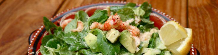 Recept; Salade met rivierkreeftjes en avocado | KittehsCupcakes.nl