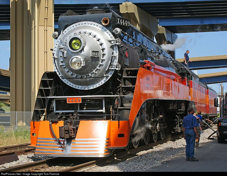 RailPictures.Net Photo: SP 4449 Southern Pacific Railroad Steam 4-8-4 at Milwaukee, Wisconsin by Tom Farence