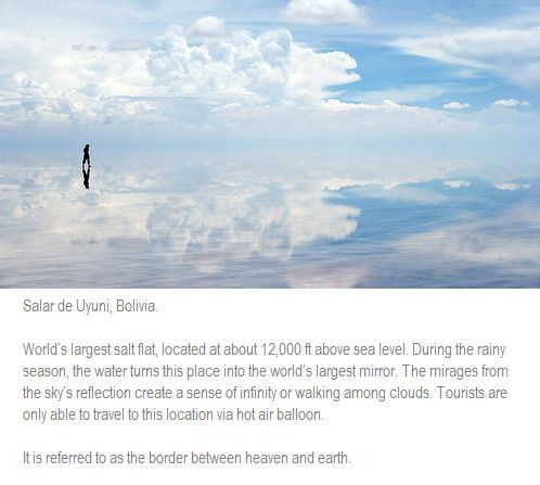 Worlds-largest-mirror-Bolivia.jpg (498×447) | Places I Have to Visit ...