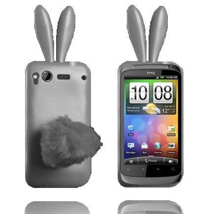 Bunny (Harmaa) HTC Desire S Silikonisuojus