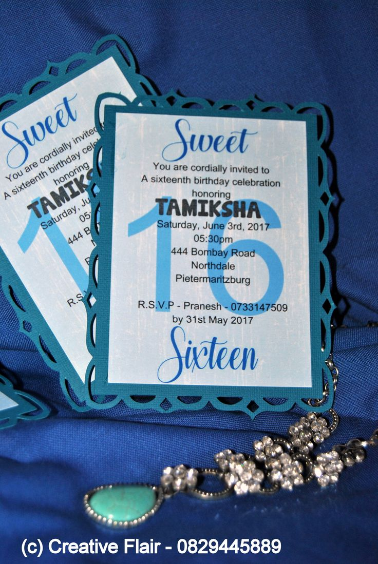 Sweet 16th Birthday Invitation done - Creative Flair - 0829445889