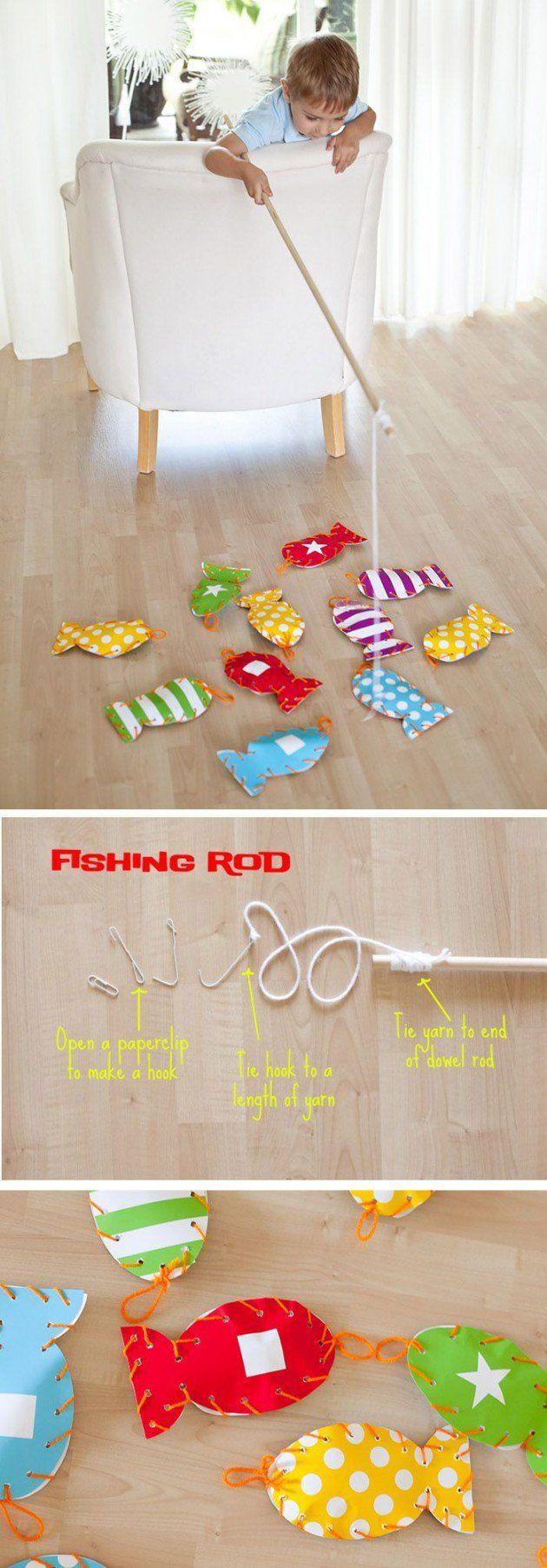 Juego de pesca para niños. Hazlo tú mismo