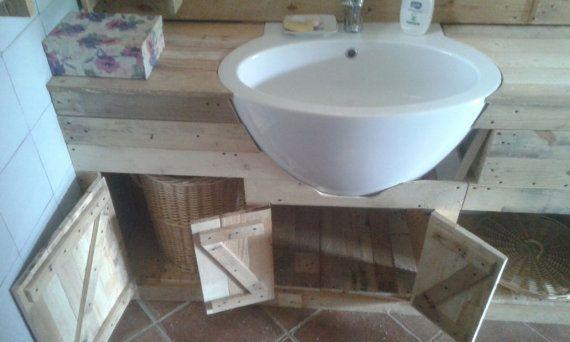 Mobile bagno in legno riciclato pallet stile di EcoNaturaBio