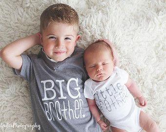 Big Brother Hemd und Litte Bruder Body | neue Baby Ankündigung | Geschwister t-Shirts | niedlichen Bruder Hemd | Big Bro Shirt | kleinen Bruder