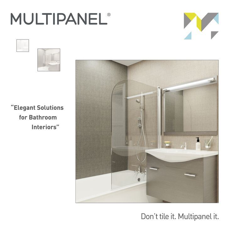 "#WisdomWednesday ""Elegant Solutions for Bathroom Interiors"" www.multipanel.co.uk"