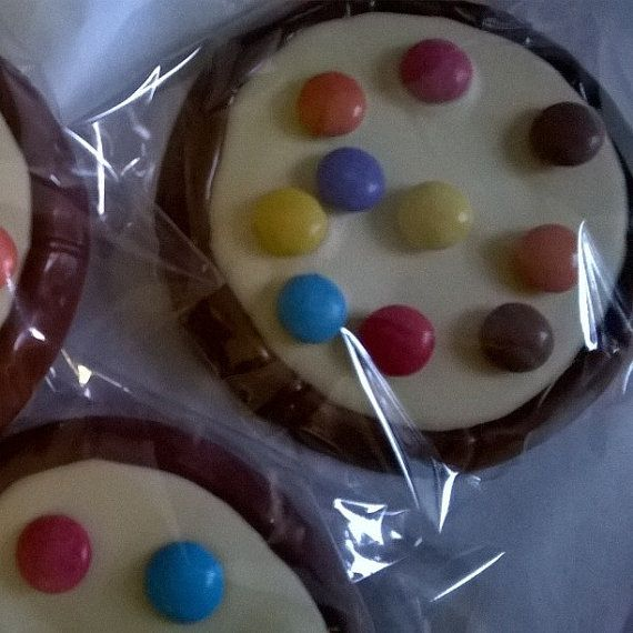 3 x Chocolate pizza with Smarties  and white by SweetieLoveUK
