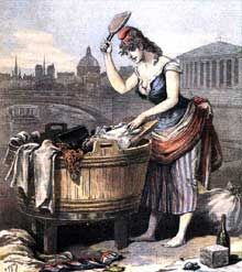 «La république se lave de ses scandales.» Affiche du «Petit Journal» du 23 février 1893, après les «affaires» des décorations et de Panama… Mais le pire est à venir avec l'affaire Dreyfus
