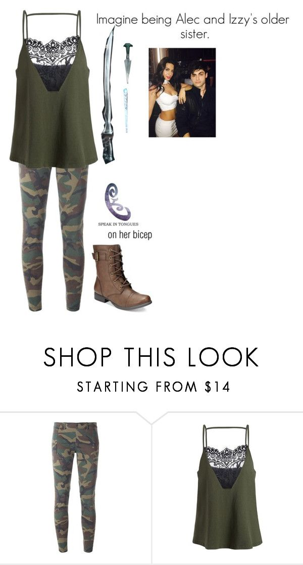 """alec and izzys older sis"" by merlinluvr22 ❤ liked on Polyvore featuring Faith Connexion, American Rag Cie and Stele"