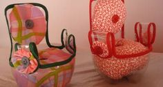 Recycled 2-litre pop bottle into a chair for 18-inch dolls --- Porta Agulhas Reciclado | Artesanato na Rede