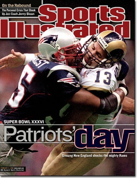 February 11, 2002 - The New England Patriots, Superbowl XXXVI Champions.