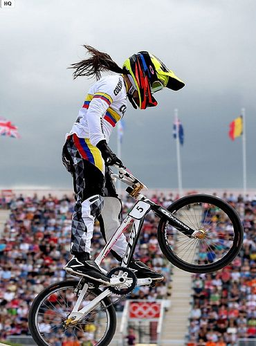 Mariana Pajón in the Olympics. #London2012 Vamos Colombia!