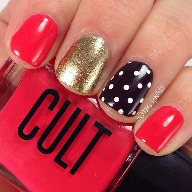 17 best ideas about red and gold nails on pinterest gold
