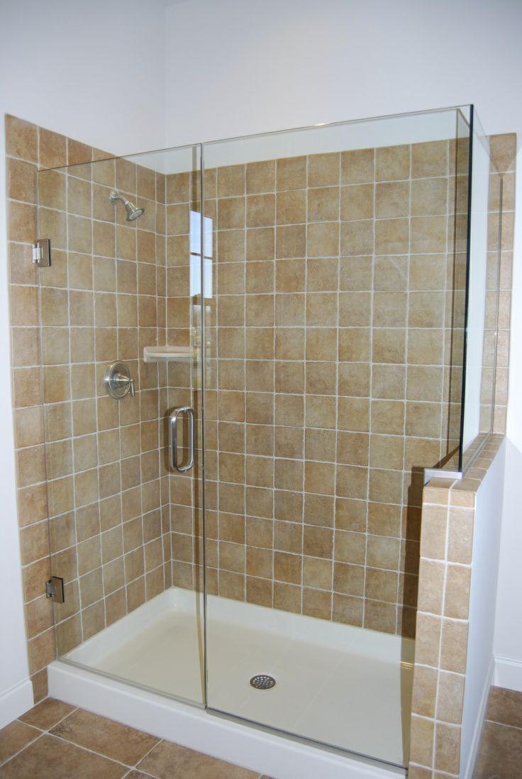Tile Shower with Glass Door