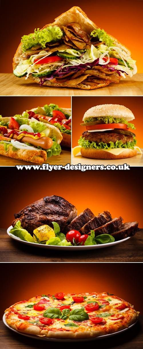 yummy fast food images suitable for takeaway leaflet design www - food brochure