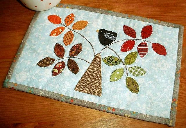 Seasonal Tree Mug Rug | Flickr - Photo Sharing!