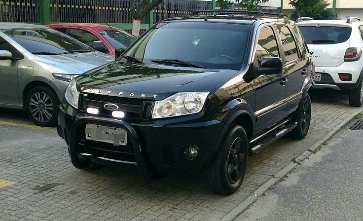 Ecoesport XLT Automatic 2.0 16v Motor Duratec 138cv Farol de milha de led, quebra mato, estribos laterais, rodas pretas com spray de envelopamento líquido.
