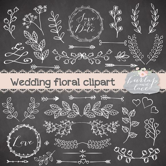 Check out Rustic wedding clipart by burlapandlace on Creative Market