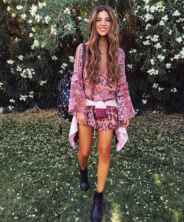 our gorgeous @negin_mirsalehi wearing her @forloveandlemons Juliet dress at #revolvefestival  style # FORL-WD378