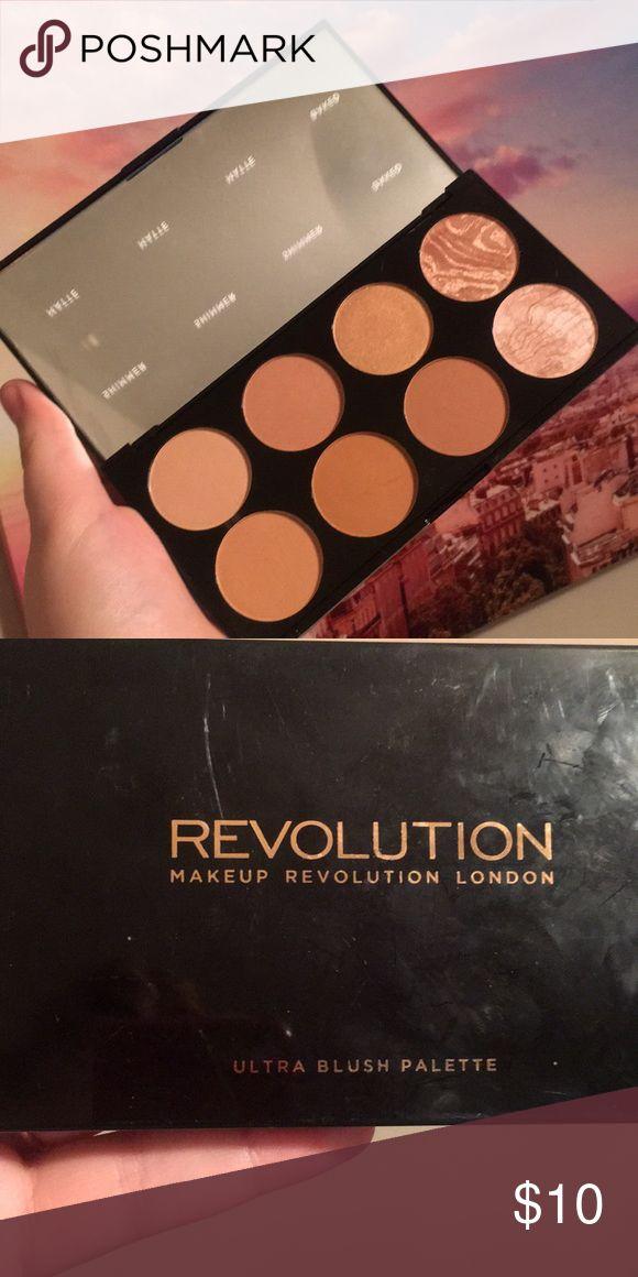 NEU: Make-up Revolution erröten Palette! Sagt, es ist eine Rouge-Palette. Ich würde es benutzen …   – My Posh Closet
