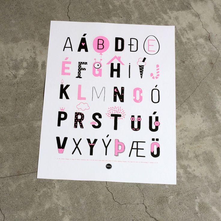 Íslenska stafrófið - plakat | Farvi