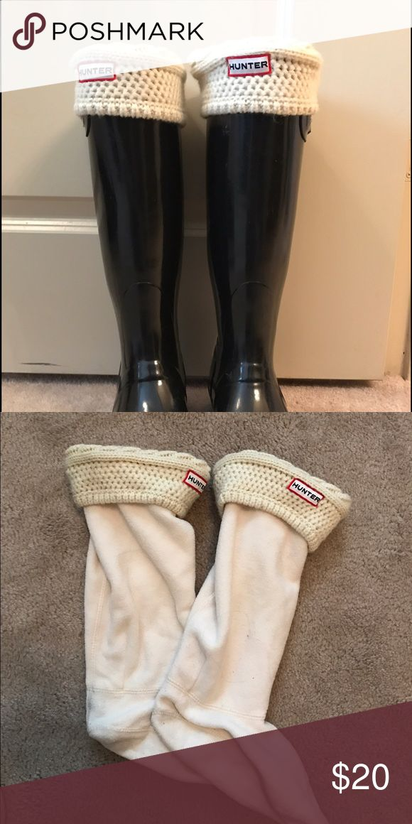 Hunter tall boot socks Boot socks for original tall Hunter rain boots. Worn few times. Hunter Boots Shoes Winter & Rain Boots