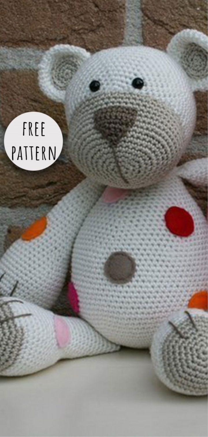Benedict the Bear Free Amigurumi Pattern | Jess Huff | 1510x720