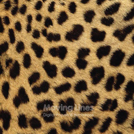 Cheetah Print Digital Paper Leopard Pattern Animal Skin Etsy Leopard Pattern Digital Paper Animal Skin