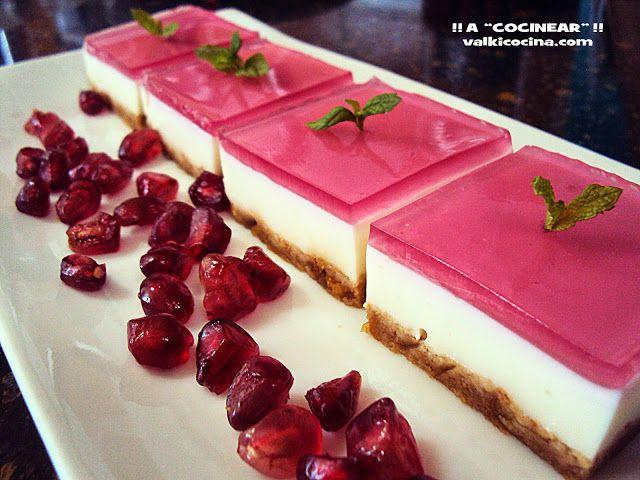 Mini Cheesecake con Gelatina de Frambuesa ~ Recetas Faciles Reunidas