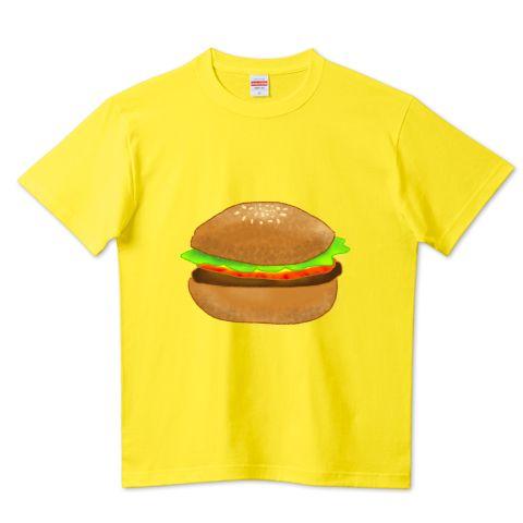 はんばっがハンバーガーのイラストが可愛い tシャツ食べ物好きには