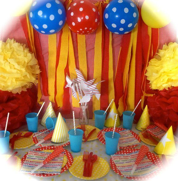 carnival party, circus themed party, circus party in a box | life is a party Melbourne, themed party packs, party hire