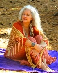 When I see women like this with flowing gray hair, it inspires me to go this route as I age.