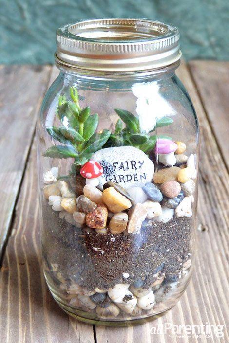 allParenting Mason jar terrarium