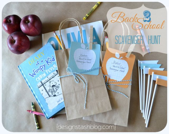 Design Stash: Back to School Scavenger Hunt!: Fun Idea, Back To Schools, Scavenger Hunts, Schools Supplies, Design Stash, Schools Scavenger Hunting, Diy'S Projects, Summer Party, Schools Fun