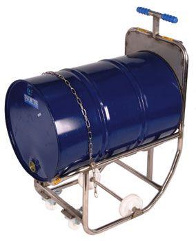 Dispensing Cradle, Stainless Steel, decanting 200 L drums.