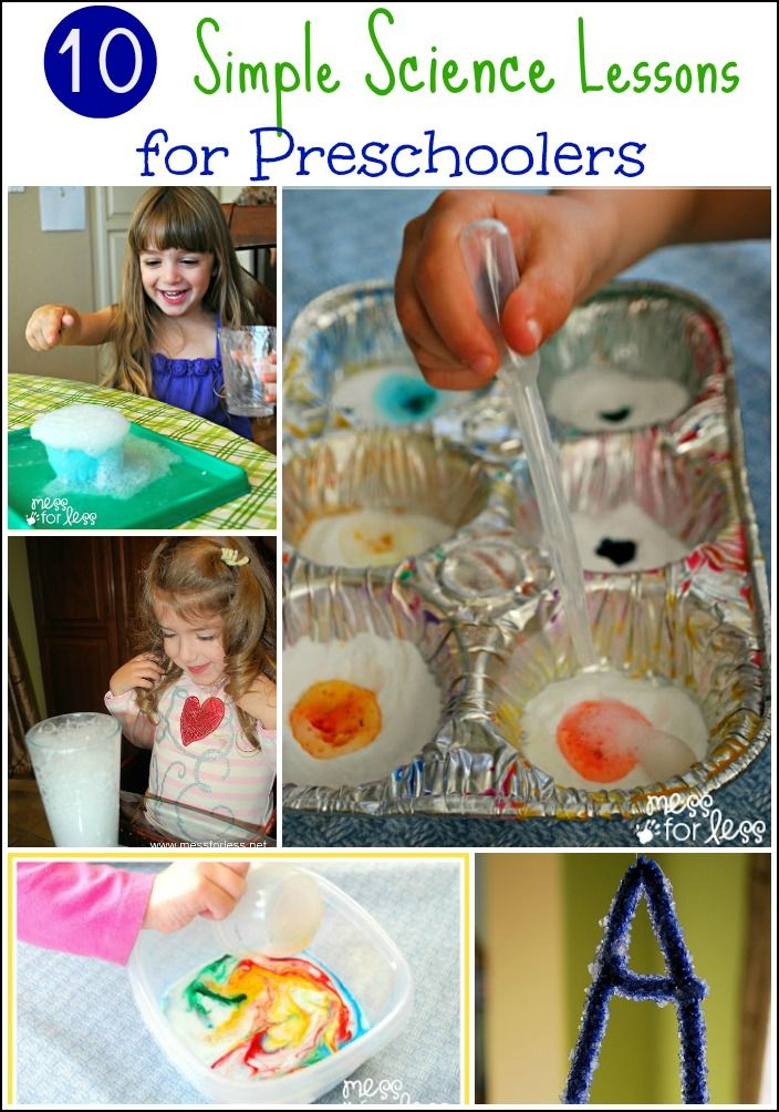 10 Simple Science Lessons for Preschoolers - some simple ways to enjoy science with young children.