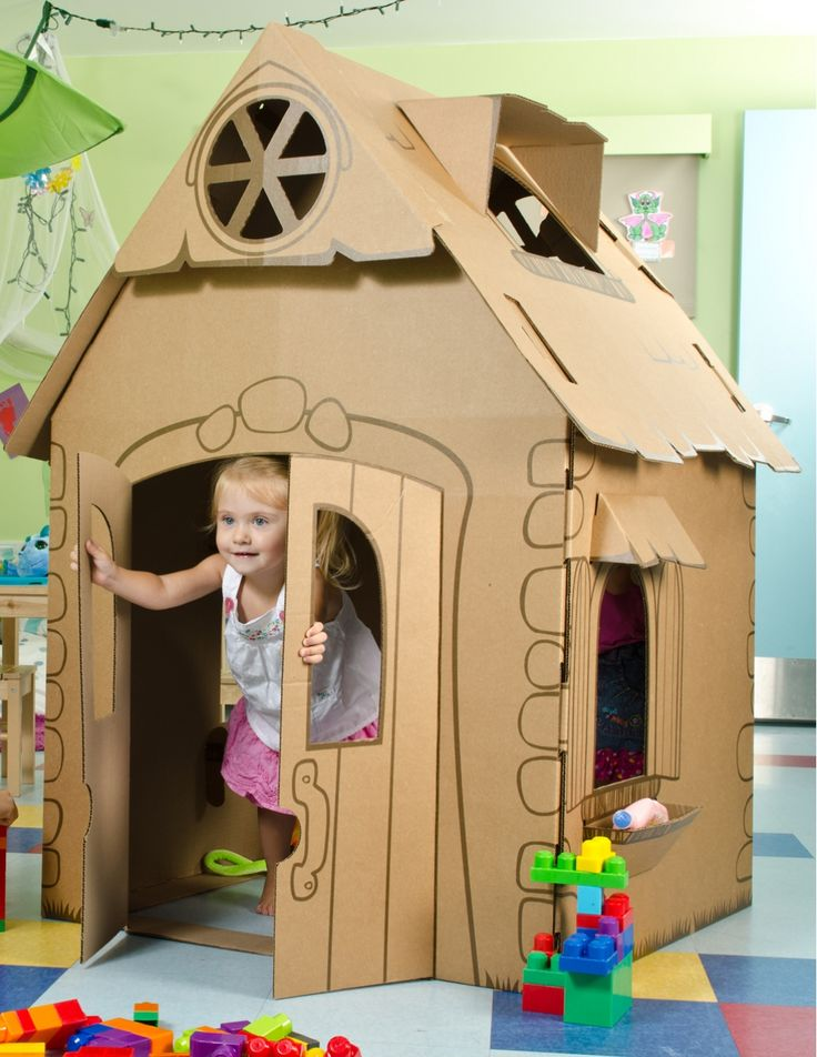 $2 from every playhouse sold in Canada/US goes to Habitat for Humanity :) Children's Cardboard Playhouses - My Pretty Playhouse