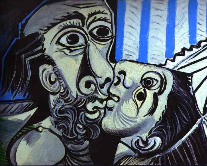 Pablo Picasso. The Kiss. 1969 year