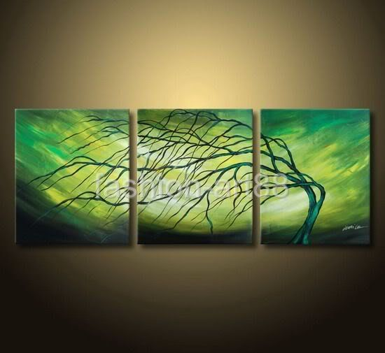 Easy Tree Paintings On Canvas | Framed Hand Painted Trees Oil Paintings On Canvas