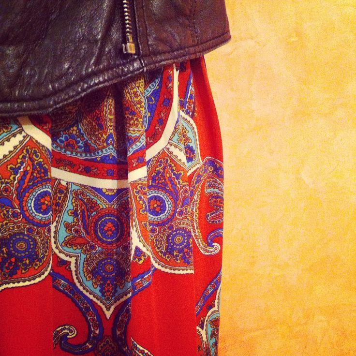 Maxi Skirt  / Leather Moto  / Street Chic