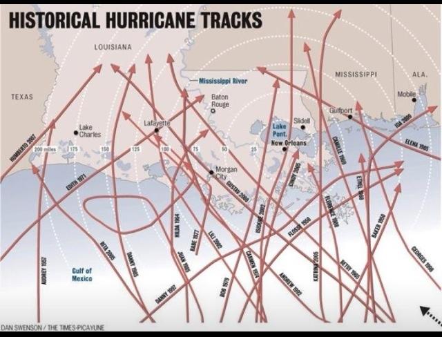 #Louisiana #Hurricane tracker