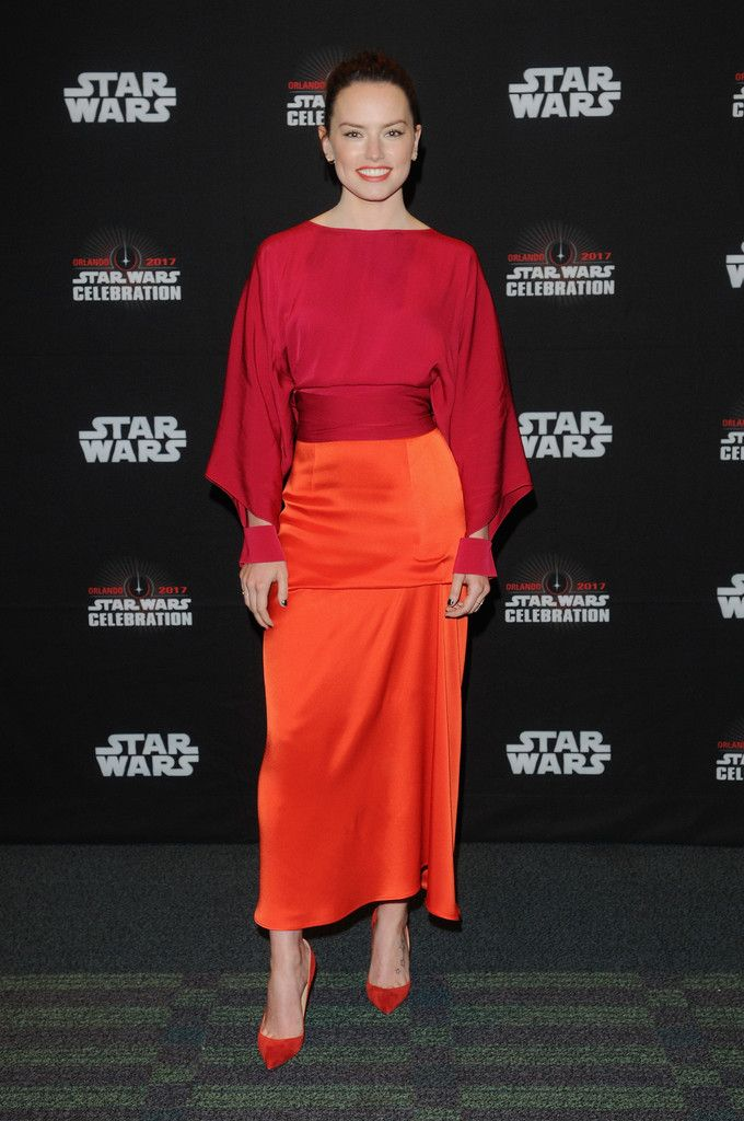 Daisy Ridley attends the Star Wars: The Last Jedi during the 2017 Star Wars Celebration at Orange County Convention Center on April 14, 2017 in Orlando, Florida.