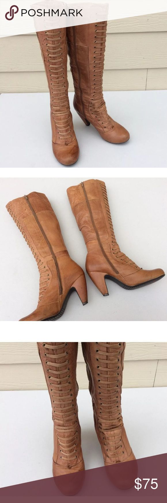 Miz Mooz Tan Knee High Boots Sz 8 Please review pictures carefully! Open to offers Miz Mooz Shoes Over the Knee Boots