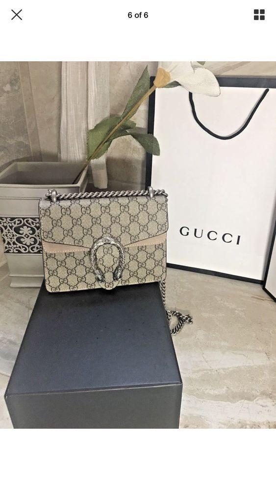 9df4ca1e0e1d7c Authentic Pre owned Gucci Dionysus GG Supreme Beige shoulder bag 403348