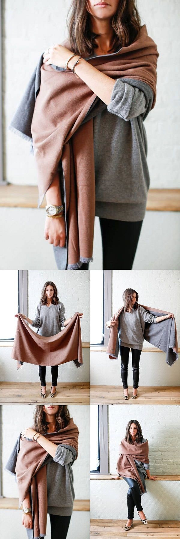 The blanket scarf is big, you can say a giant version of the scarf. Warm, cozy, and comfortable-- it's in trend. If you want wear blanket scarves, here're the 20 tips to follow!