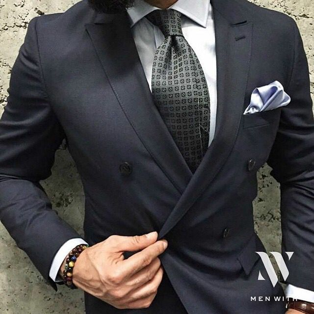 Stylish in suit!