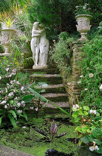 Lamorran House Gardens, Cornwall, UK | A coastal garden featuring romantic garden statues (8 of 11) | Flickr - Photo Sharing!