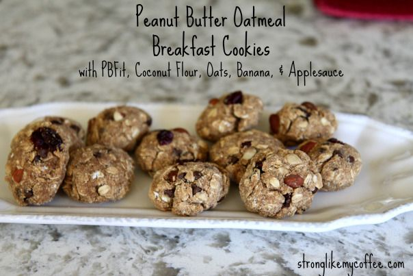 Peanut Butter Oatmeal Cookies {Lightened Version} Recipe Stronglikemycoffee.com
