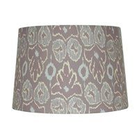 allen + roth 9-in x 13-in Screen Print Fabric Drum Lamp Shade