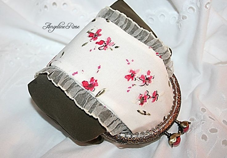 flower purse, flower clutch, romantic purse, romantic clutch, unique kiss lock purse, angeline rose purse by AngelineRosePurse on Etsy